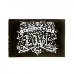 Felpudo All You Need Is Love 60x40 cm