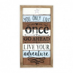 Adorno Pared  Only Live Once 42 cm