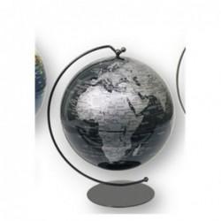 Globo Terraqueo Mapamundi Negra 19 cm