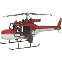 Figura Helicóptero Rescate rojo