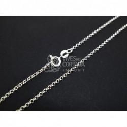 Cadena de plata bauleta mini 45cm (C45)