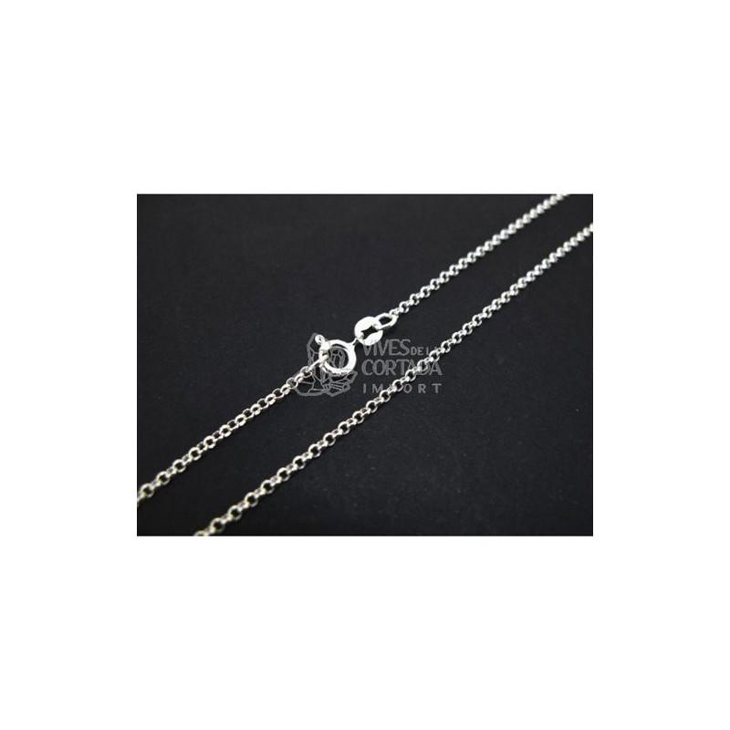 Cadena de plata bauleta mini 60cm (C47)