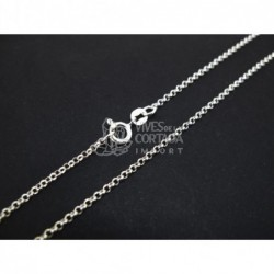 Cadena de plata bauleta mini 80cm (C49)