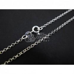 Cadena de plata bauleta peque?a 80cm (C55)