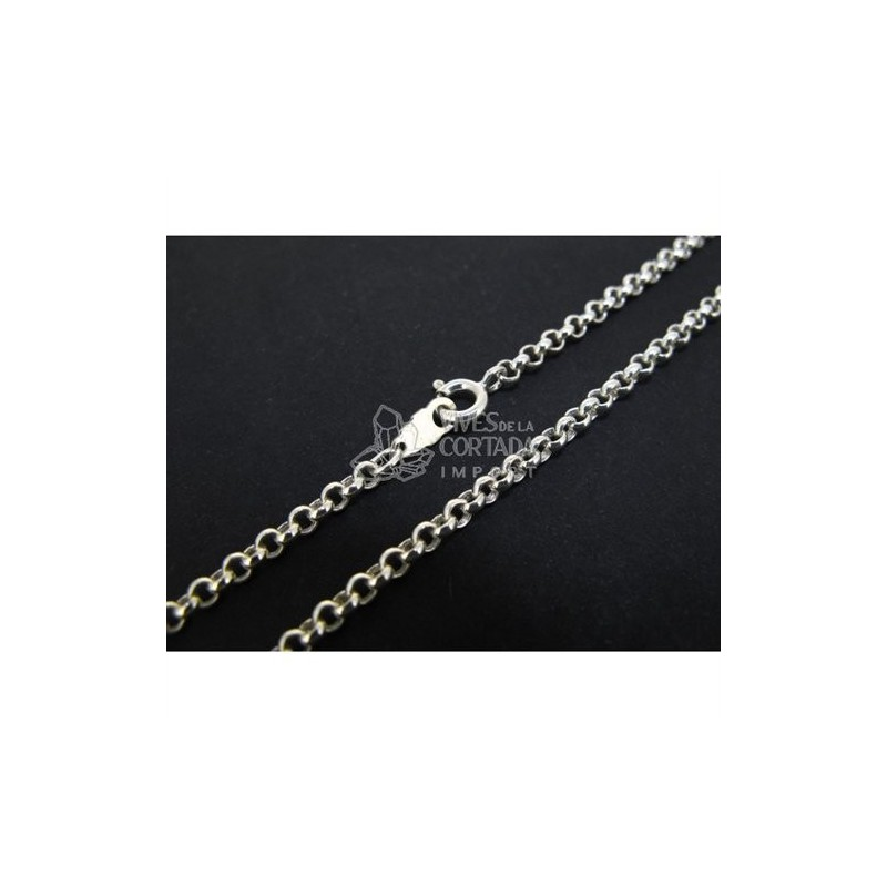 Cadena de plata bauleta mediana 60cm (C58)