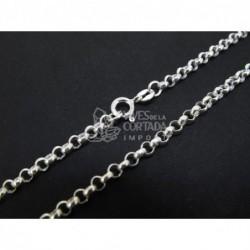Cadena de plata bauleta gruesa 60cm (C61)