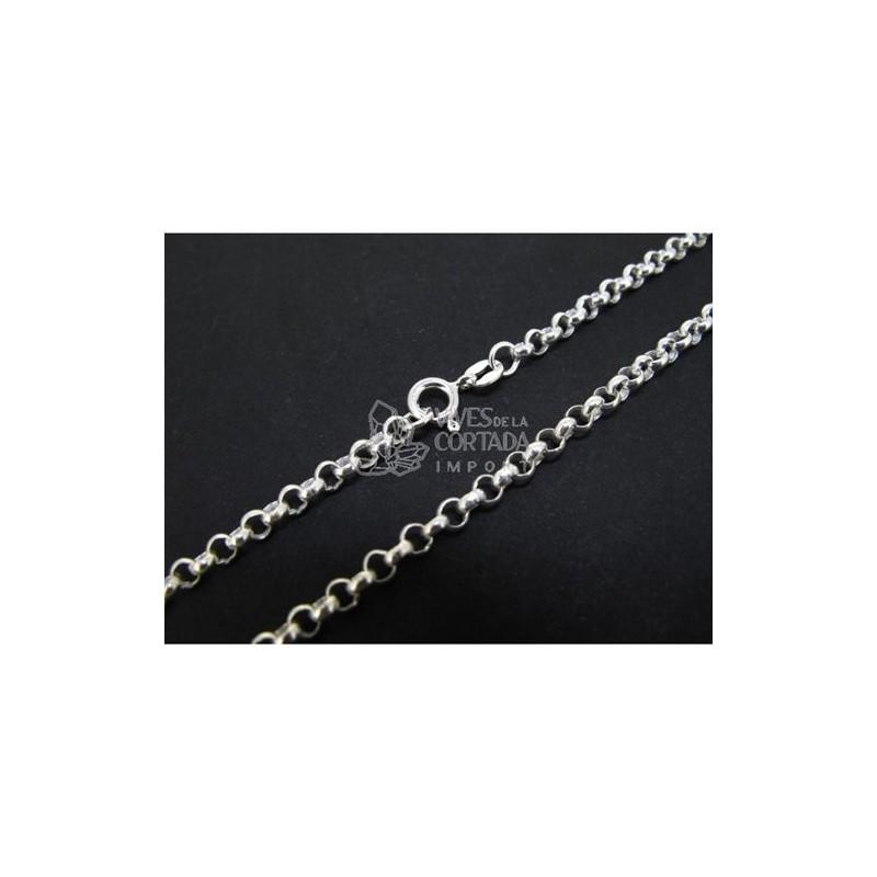 Cadena de plata bauleta gruesa 80cm (C63)