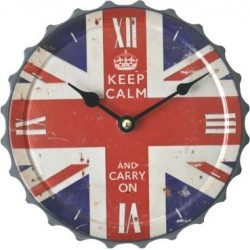 Reloj pared chapa Keep Calm UK