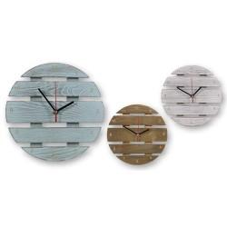 Reloj de Pared MAdera Colores Surtidos (1 unidad)