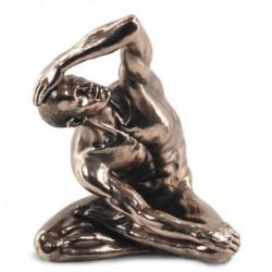 Figura Resina Bronce Hombre Desnudo 22 cm