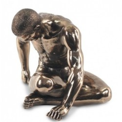 Figura Resina Bronce Hombre Desnudo 20 cm