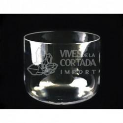 Cuenco de Cristal de Cuarzo Transparente 30 cm