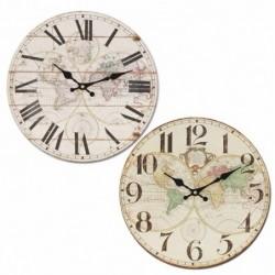 Reloj Pared Mundo Surtido (1 unidad) 34 cm