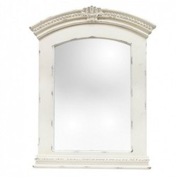 Espejo Pared Retro Blanco 111x82 cm