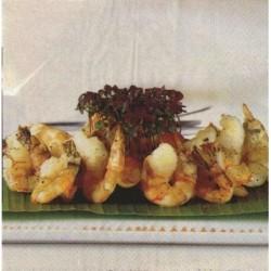 Paquete 20 Servilletas Papel 33 cm Grilled Shrimps