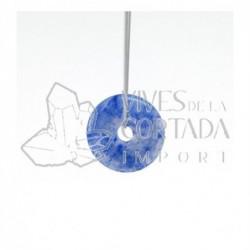 Donut Peque?o de Cuarzo Azul