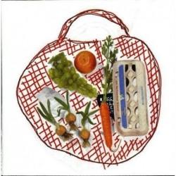 Paquete 20 Servilletas Papel 33 cm Shopping Bag