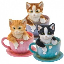 Figura x3 Gatos 16 cm
