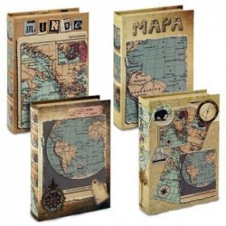 Caja Libro Mapa (1 unidad) 16x24 cm