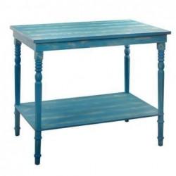 Mesa Azul Madera Retro 85x95 cm