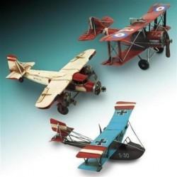 Figura Avion Retro Metal 24 cm Surtida (1 unidad)