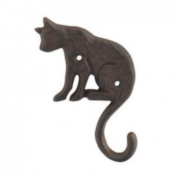 Percha Pared Gato Hierro 16 cm