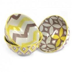 Bowl x3 Modelos Urban Yellow Ceramica 12 cm