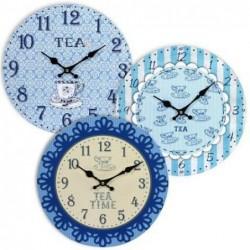 Reloj de Pared Tea Blue Surtido (1 unidad) 34 cm