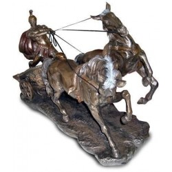 Figura Resina Carro Romano 60 cm