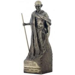 Figura Clasica Gandhi Resina 29 cm