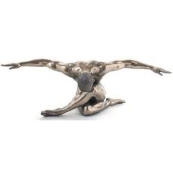 Figura Hombre Pensante Resina 44 cm