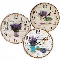 Reloj De Pared Lavanda Surtido ( 1 unidad) 34 cm