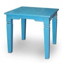 Mesa Retro Azul Envejecida Azul 80 cm
