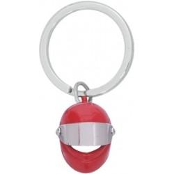 Llavero casco moto rojo.