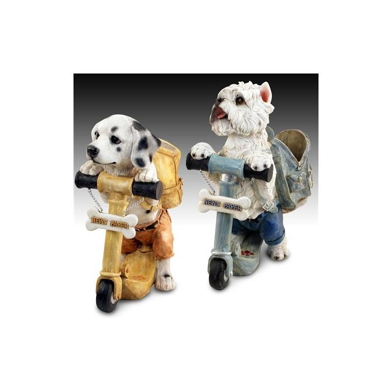 Figura Resina Perro con Mochila SURTIDO (1 unidad) 36 cm