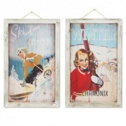 Cuadro x2 Ski 48x30 cm
