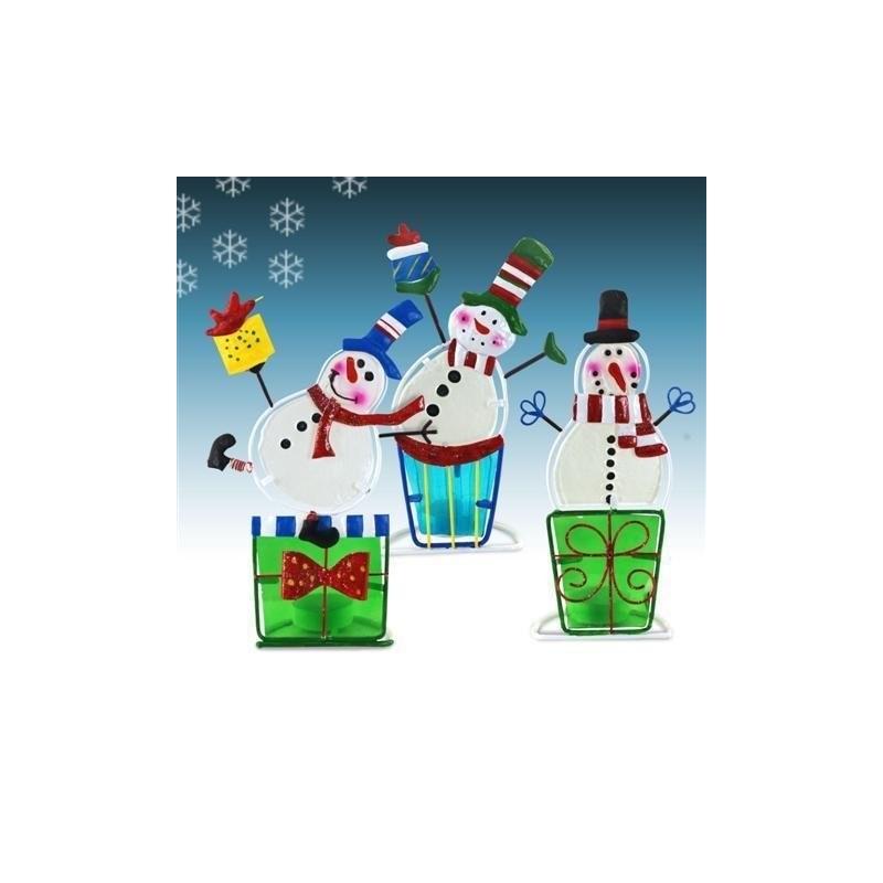 Mu?eco x3 Modelos Navidad T-Lite 22 cm