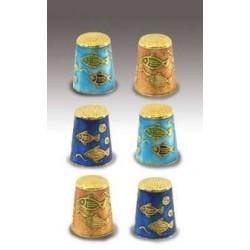 Set de 6 dedales esmaltados Peces
