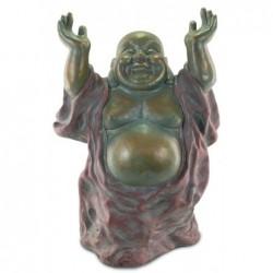 Figura Grande Metal Budha Feliz 82 cm