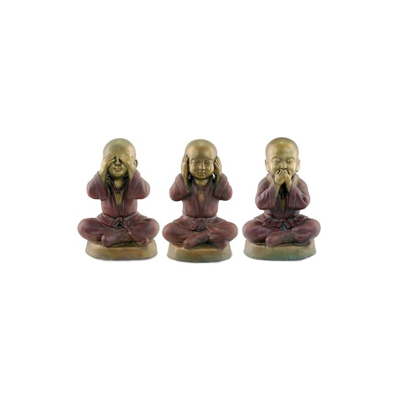 Figura Grande x3 Budha No Veo/Oigo/Hablo 48 cm