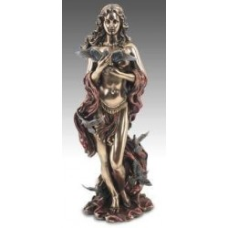 Figura Afrodita con palomas