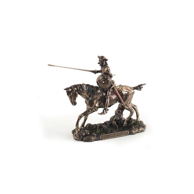 Figura Resina Don Quijote Caballo 19 cm