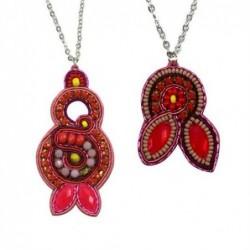 Collar Bisuteria Rojo 29 cm