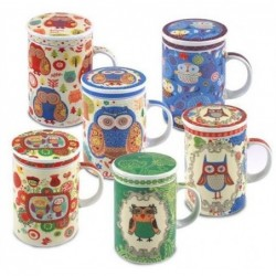 Mug Con Tapa Buho Surtido (1 unidad) 12 cm