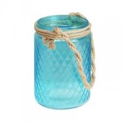 Candelabro Azul 16 cm