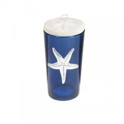 Candelabro Azul con Tapa 12 cm