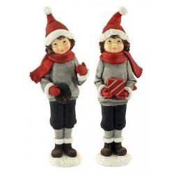 Figura Decorativa Navidad x2 Ni?os 28 cm
