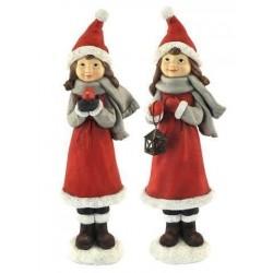 Figura Decorativa Navidad x2 Ni?os 30 cm