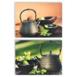 Set 2 Cuadros Cocina Teteras 30X40 Cm