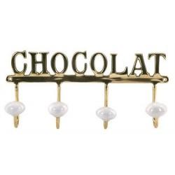 Percha Laton Retro Chocolat 26 cm